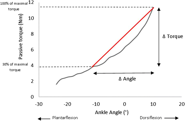 What causes increased passive stiffness of plantarflexor