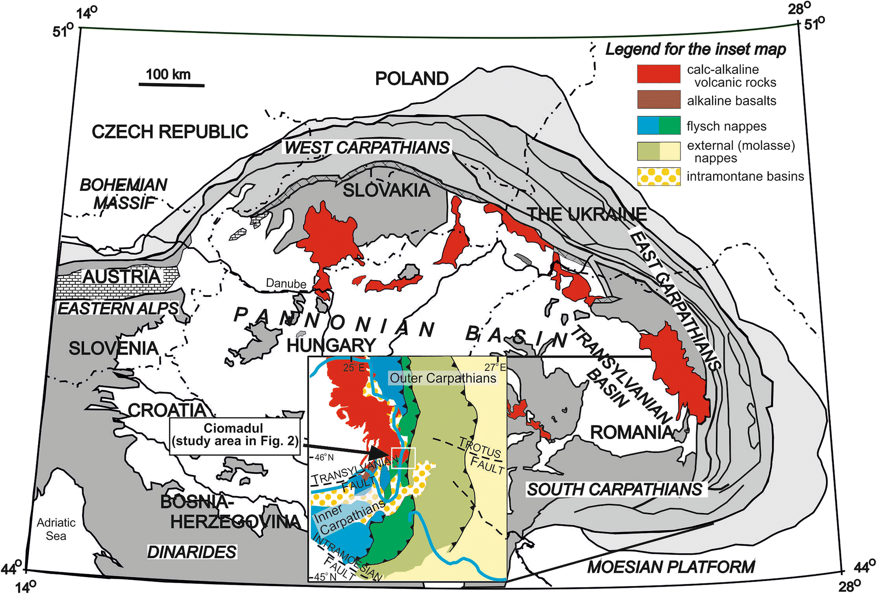Eruptive history of the Late Quaternary Ciomadul (Csomád