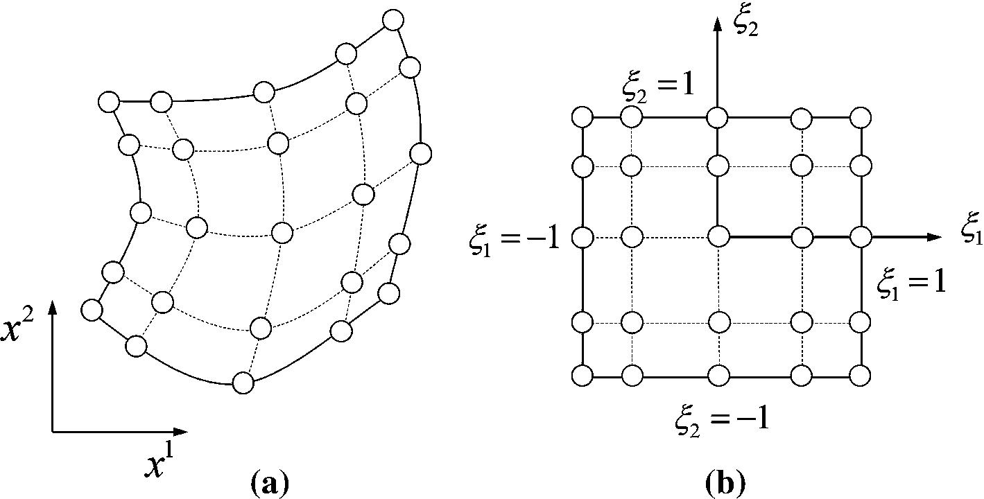 A weak form quadrature element formulation of geometrically