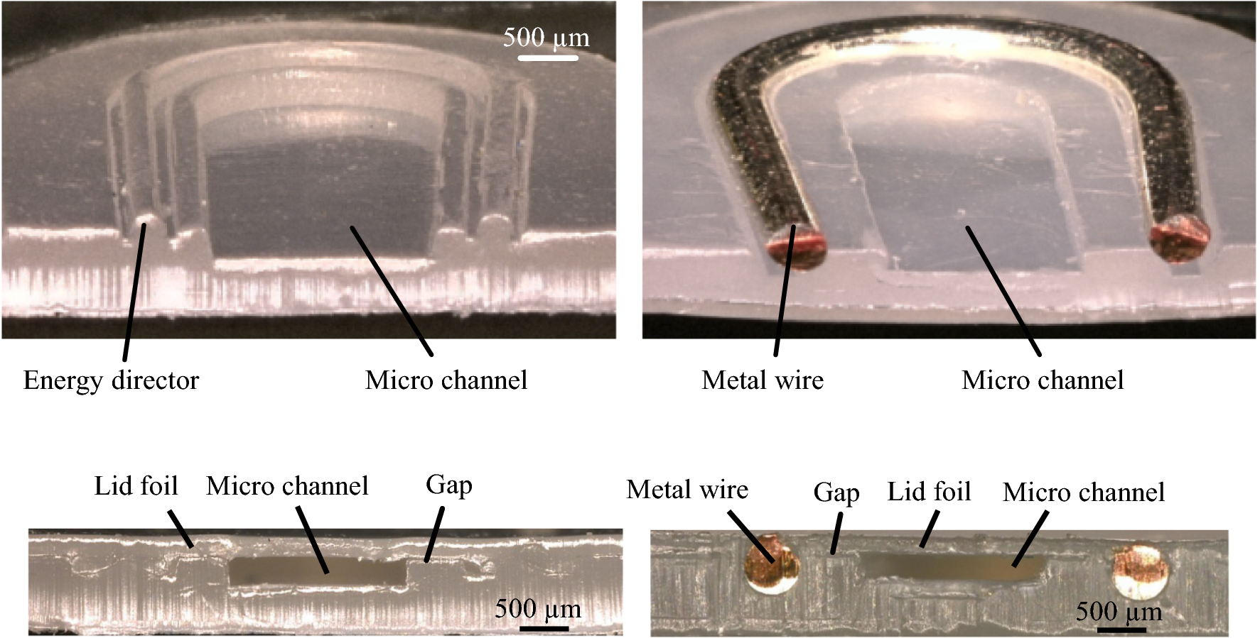 Ultrasonic Welding Of Polymer Micro Fluidic Devices By Inserting Diagram Open Image In New Window