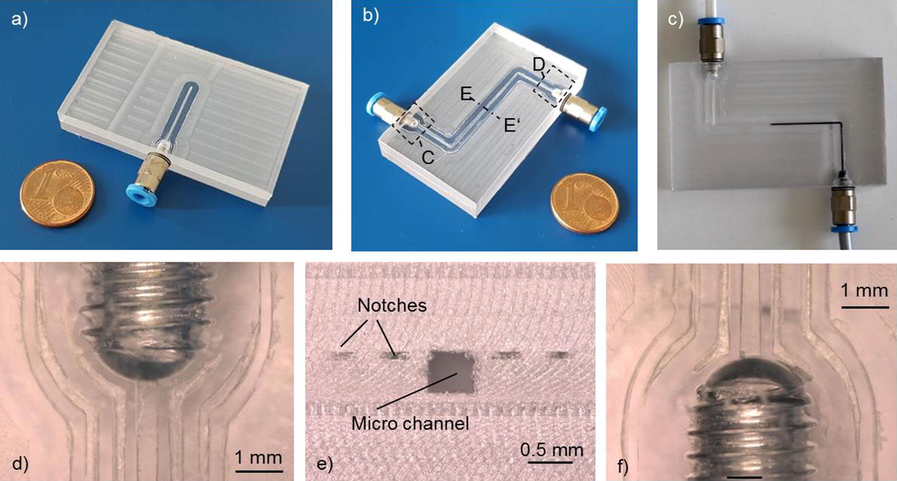 Screwed micro fluidic connections fabricated by ultrasonic hot