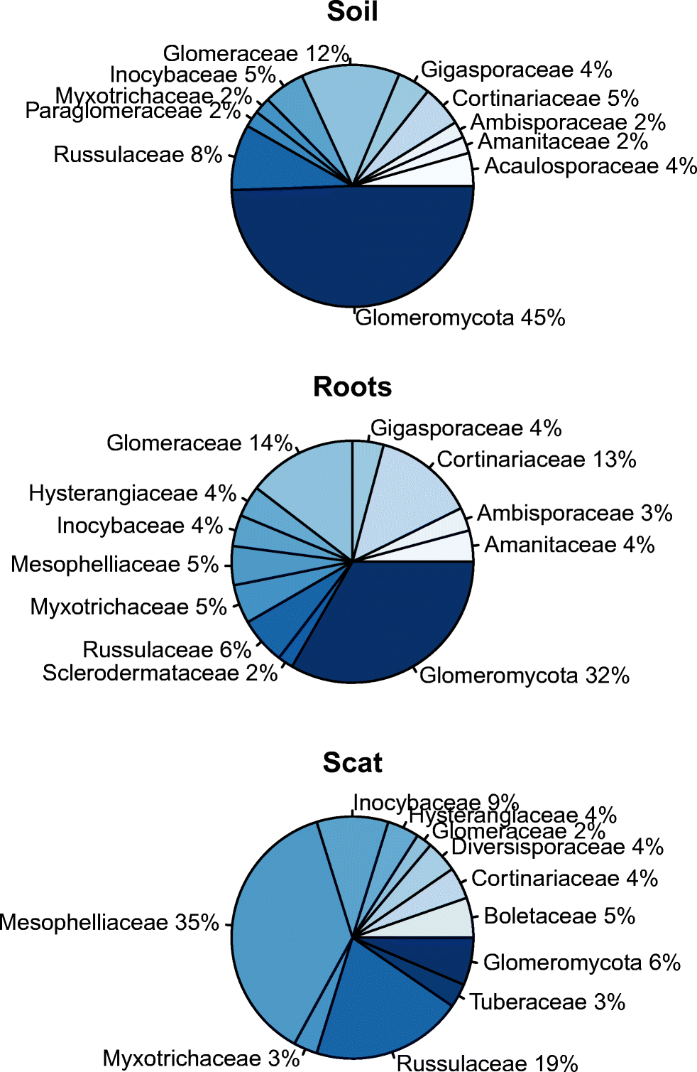 Ectomycorrhizal fungal communities are dominated by