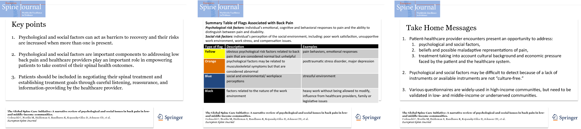 The Global Spine Care Initiative: a narrative review of