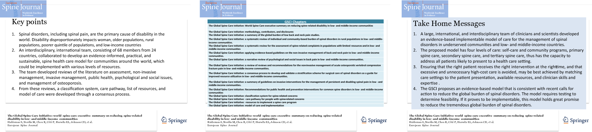 The Global Spine Care Initiative: World Spine Care executive summary
