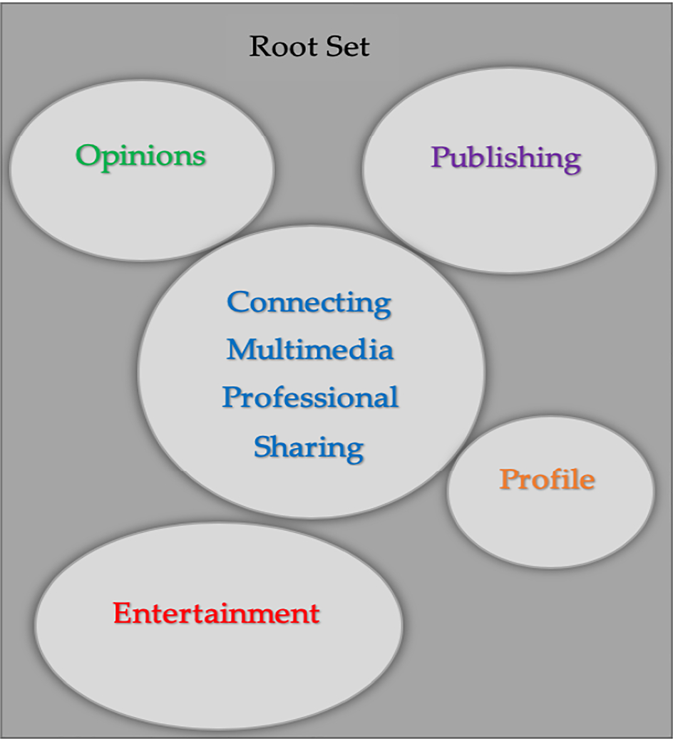 Social Media Types: introducing a data driven taxonomy