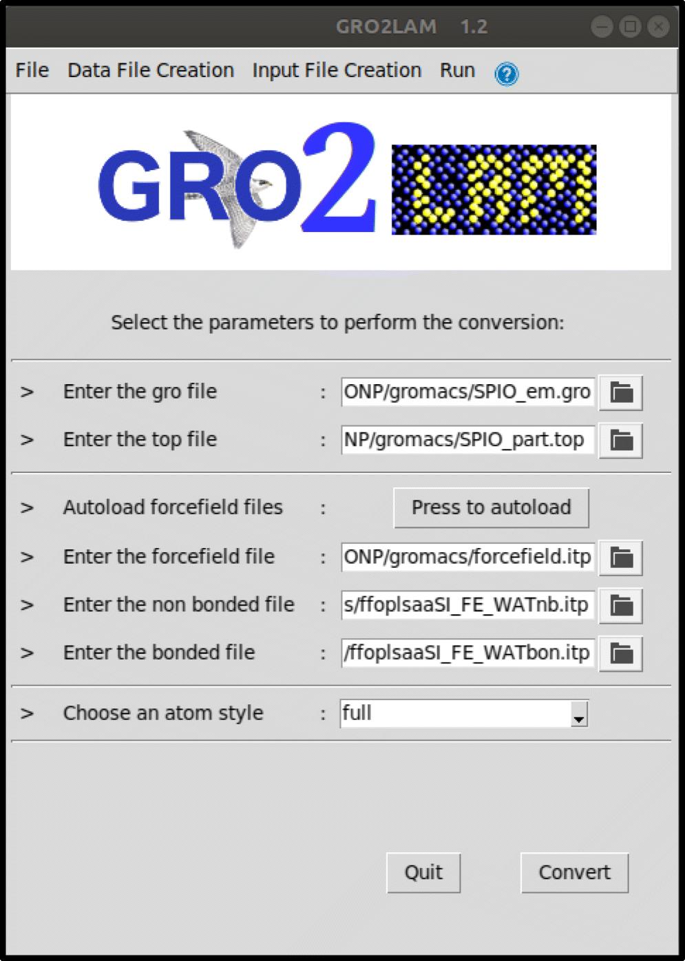 From GROMACS to LAMMPS: GRO2LAM   SpringerLink