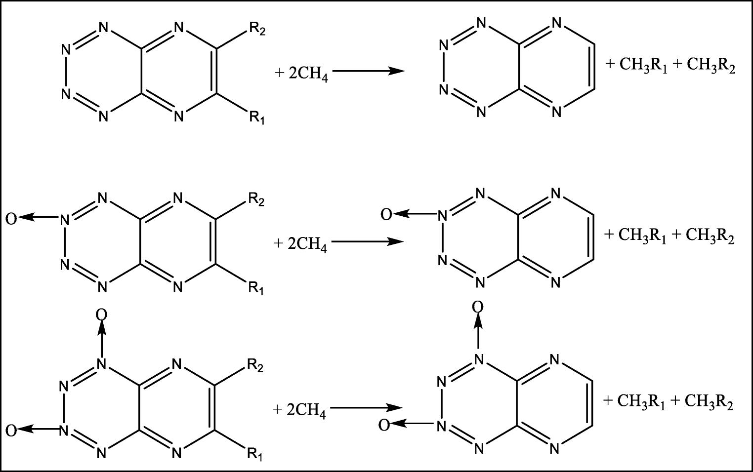DFT studies on nitrogen-rich pyrazino [2, 3-e] [1, 2, 3, 4