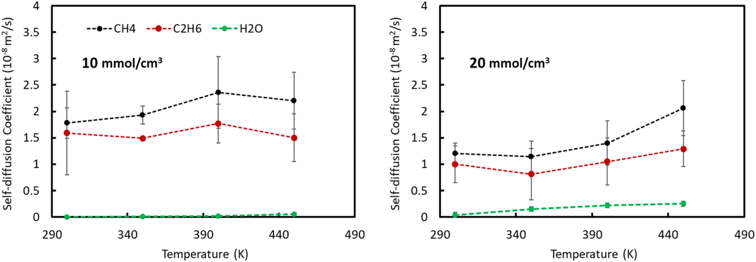 Effect of CO2 and H2O on the behavior of shale gas confined