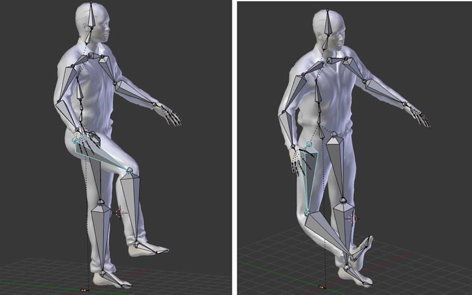 Real-time body tracking in virtual reality using a Vive tracker