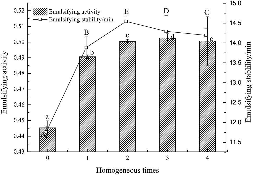 Effects of homogenization on the molecular flexibility and
