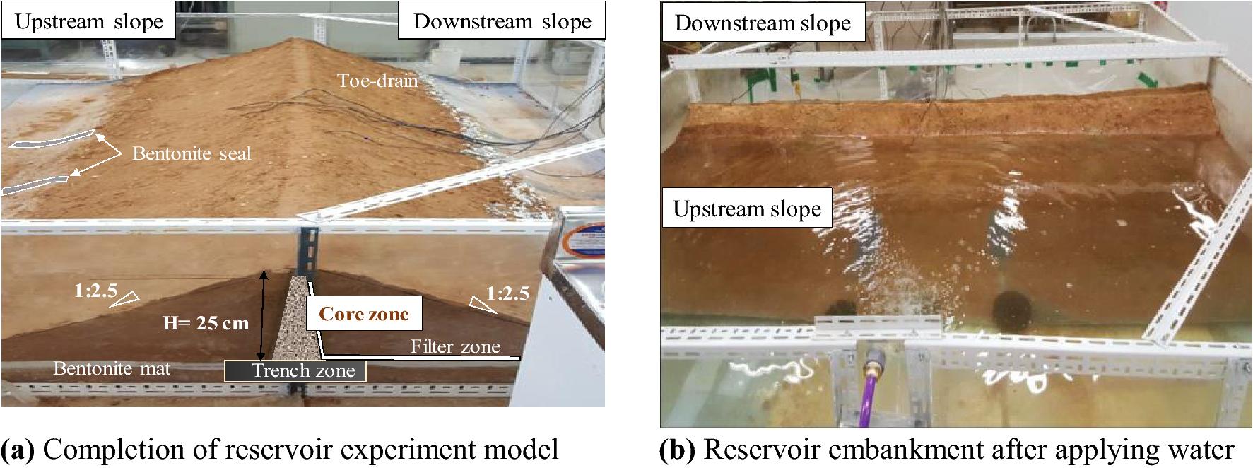 Experimental study on seepage characteristics of reservoir