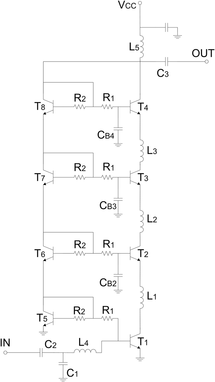 A Stacked Transistor Approach To Millimeter Wave Sige Power Common Emitter Amplifier Design Simple Determining Fig 9 Schematic Of The W Band