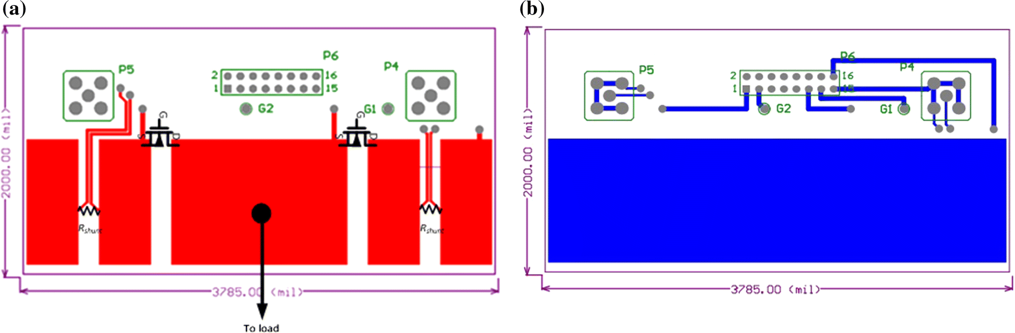 Effects of PCB power layouts design on switching transient
