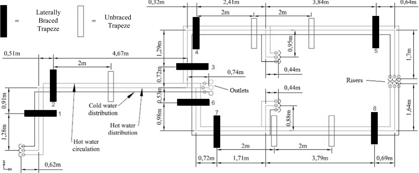 Seismic Response Of Viscously Damped Braced Thin Wall Piping System Layout Drawing Open Image In New Window