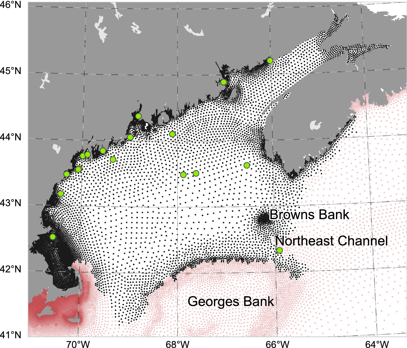 Rapid warming and salinity changes in the Gulf of Maine alter