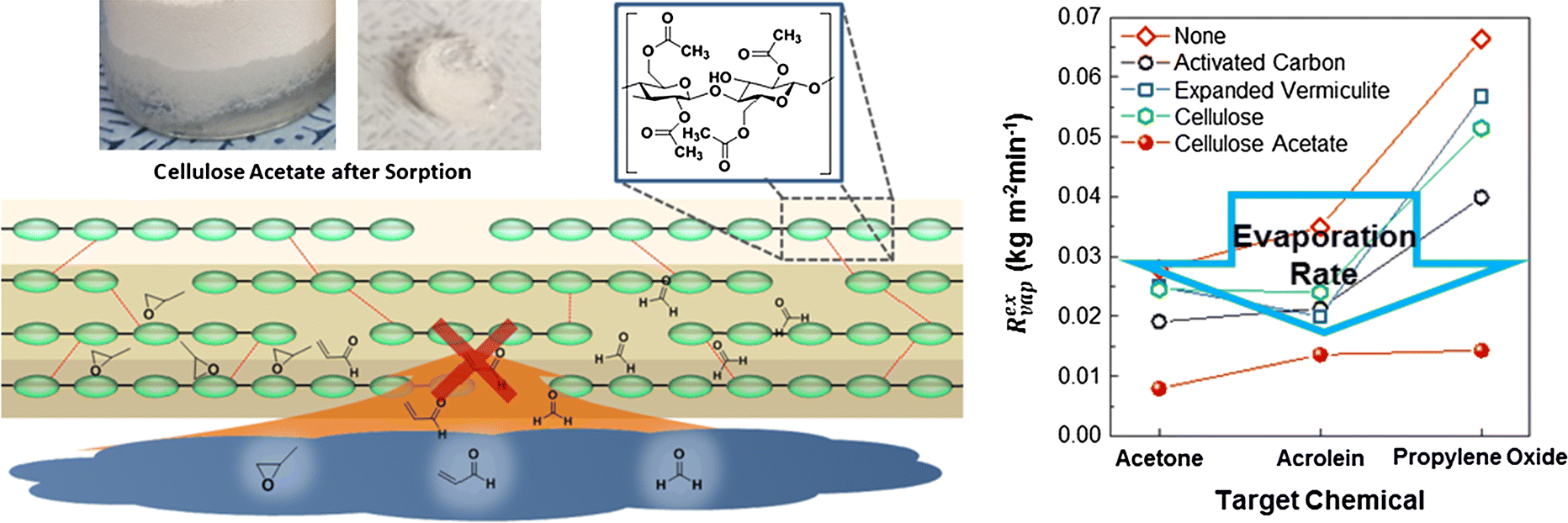 An eco-friendly cellulose acetate chemical sorbent for