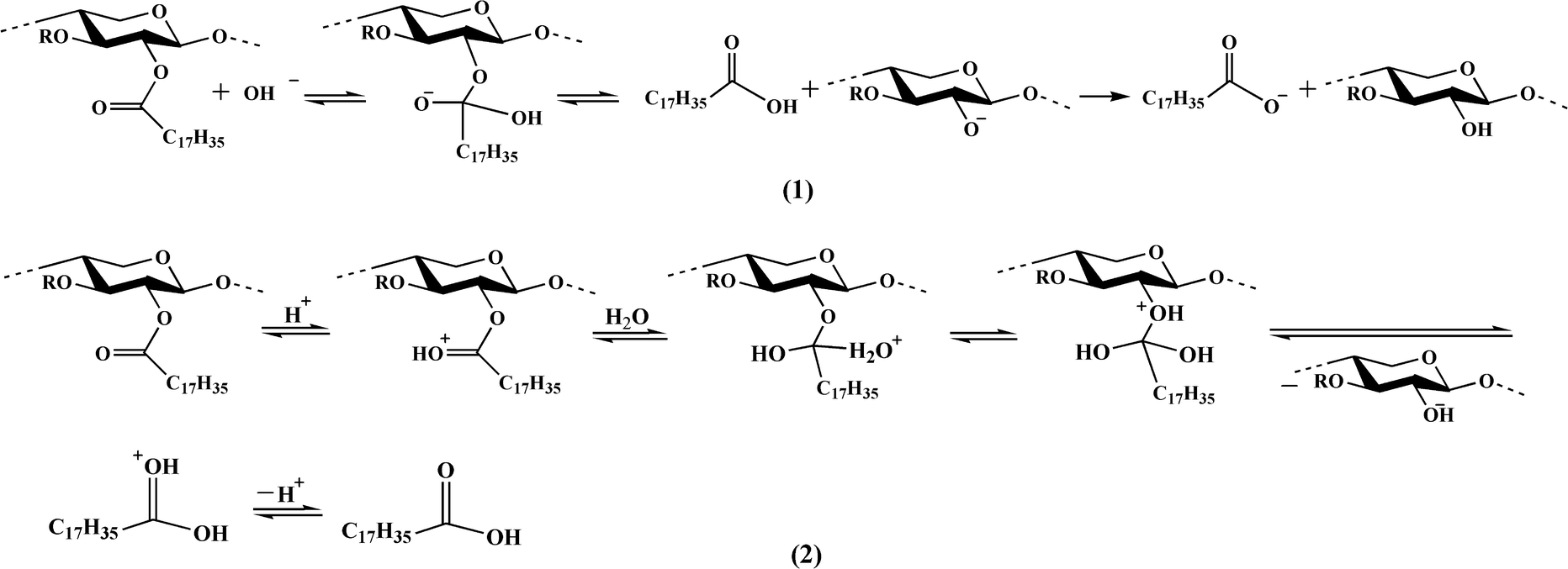 Syntheses of xylan stearate nanoparticles with loading