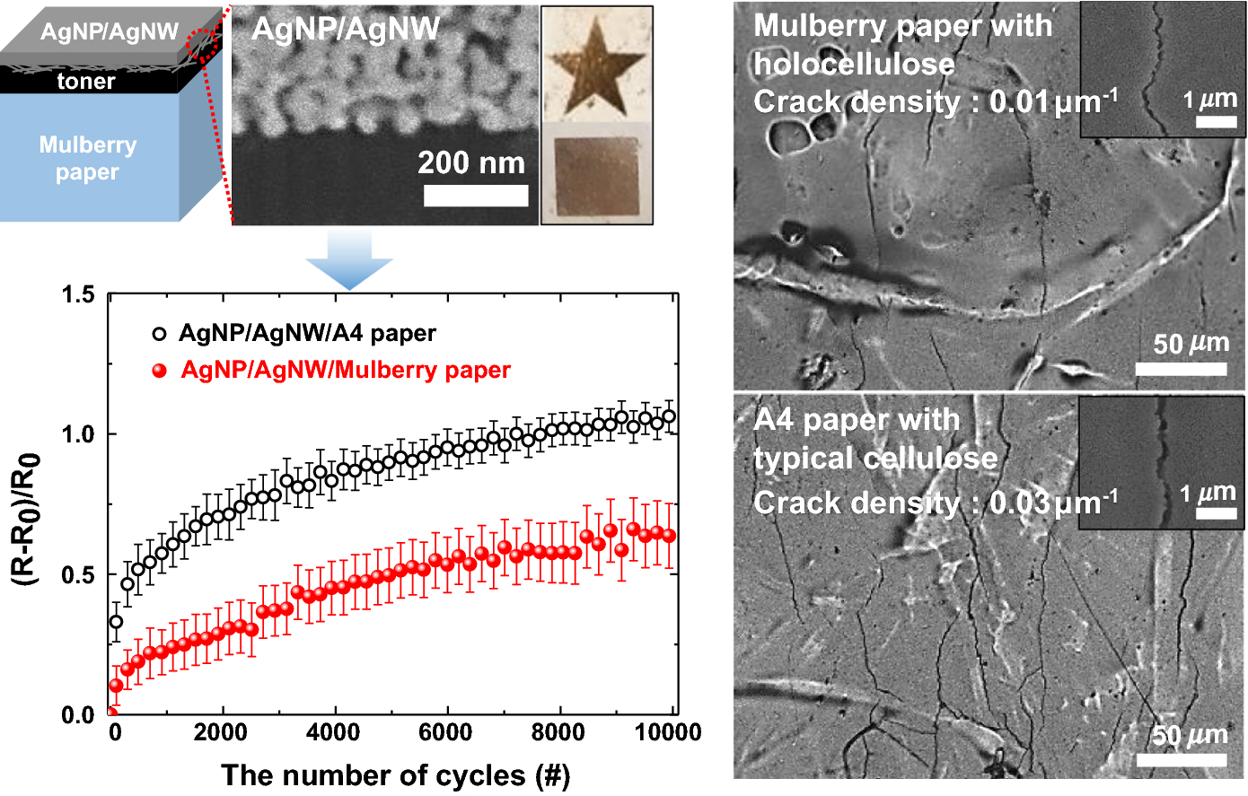 Mulberry-paper-based composites for flexible electronics and