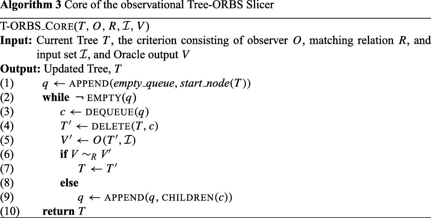 A comparison of tree- and line-oriented observational