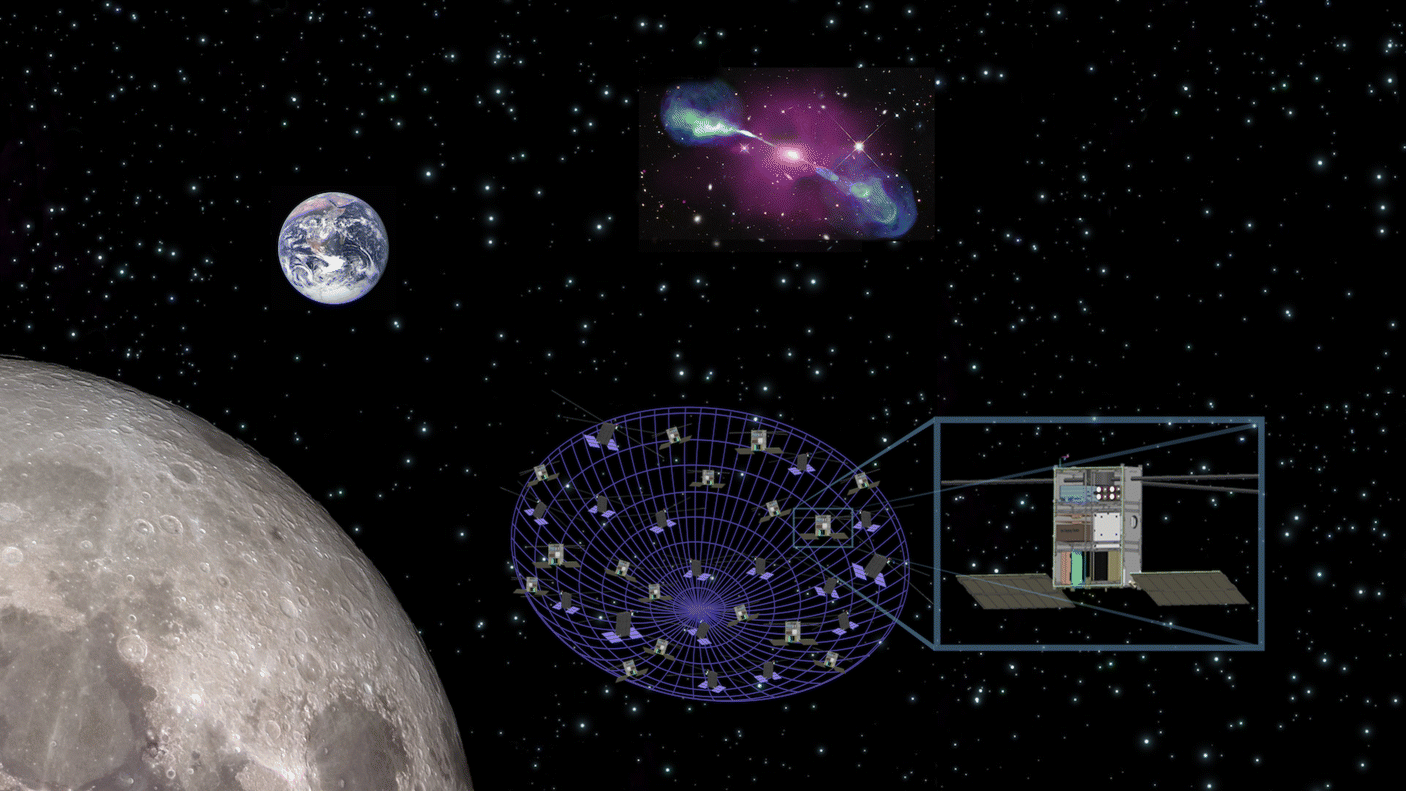 A space-based decametric wavelength radio telescope concept