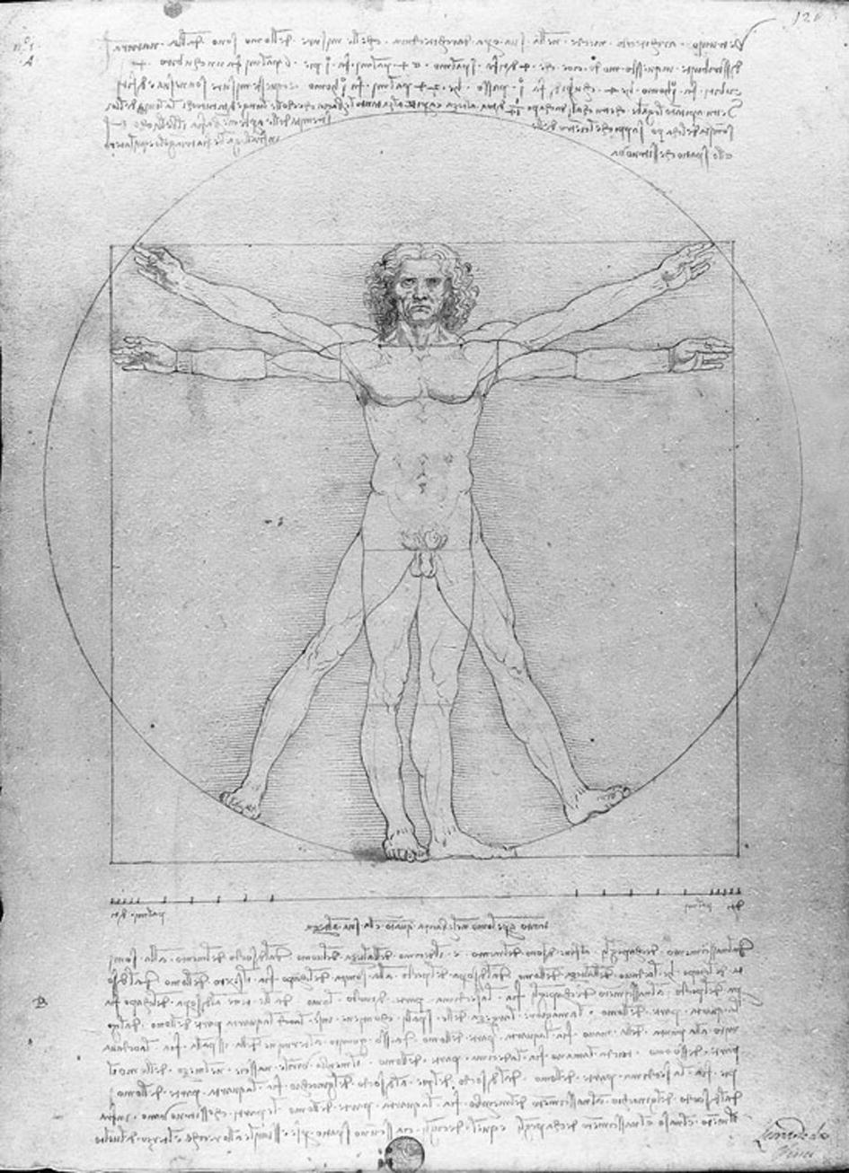 The Vitruvian Man of Leonardo da Vinci as a Representation