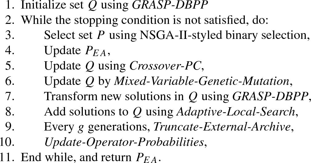 A greedy memetic algorithm for a multiobjective dynamic bin
