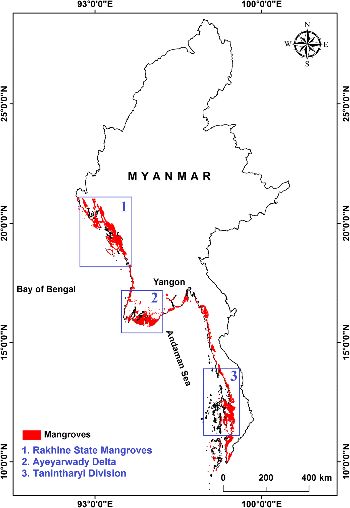 Rapidly diminishing mangrove forests in Myanmar (Burma): a