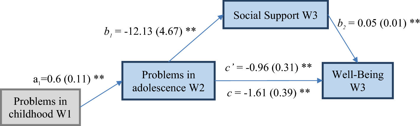 Mediating Effects of Social Support in the Association Between