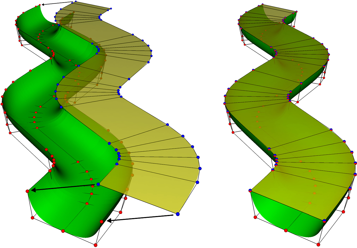 Surface-Based Geological Reservoir Modelling Using Grid-Free NURBS