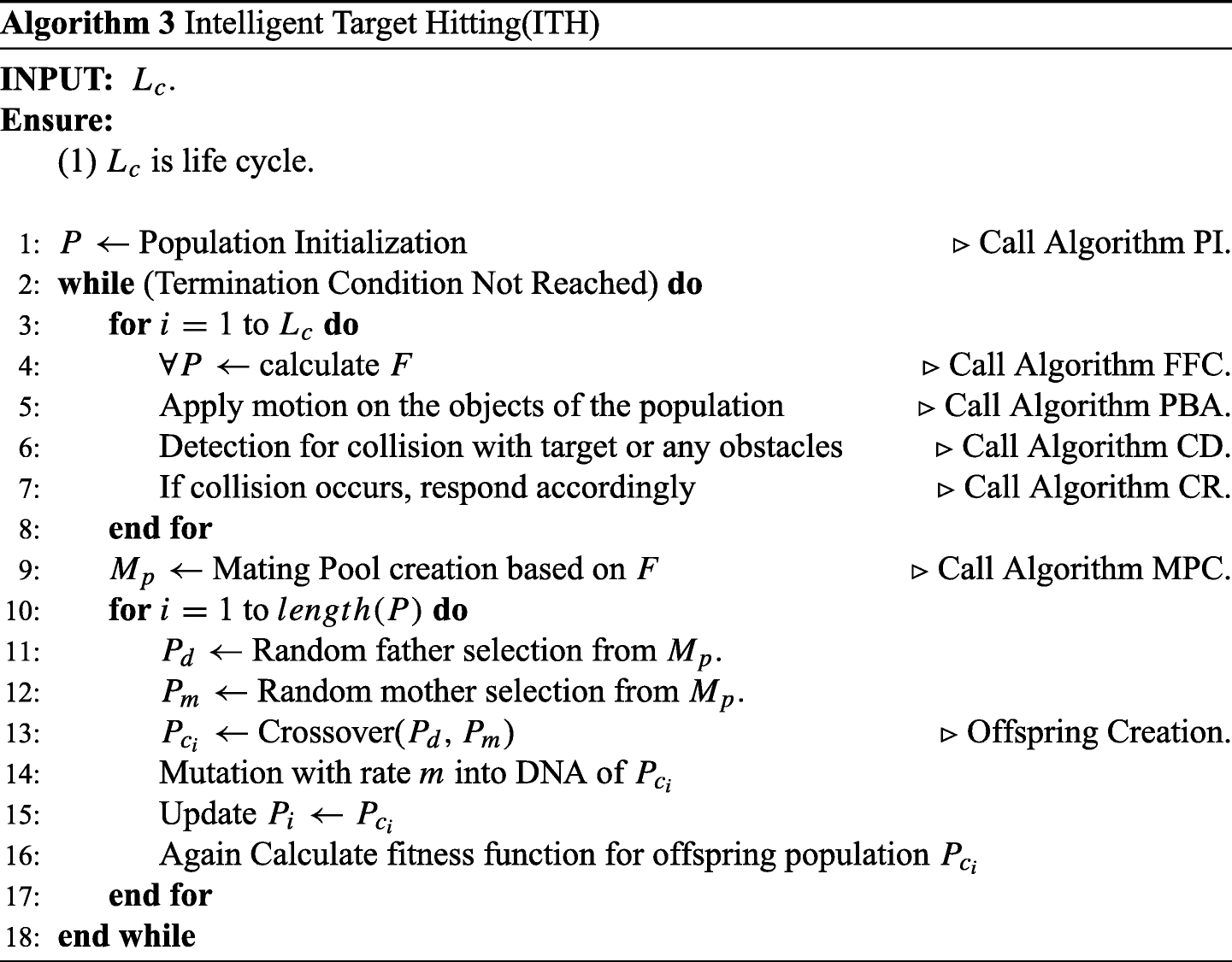 Simulation of intelligent target hitting in obstructed path using