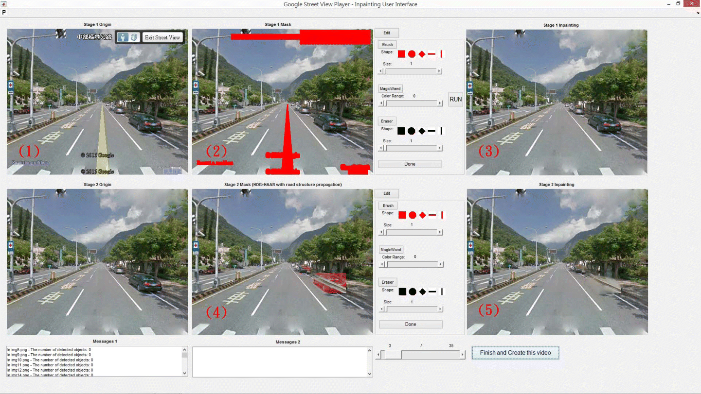 Automatic generation of video navigation from Google Street