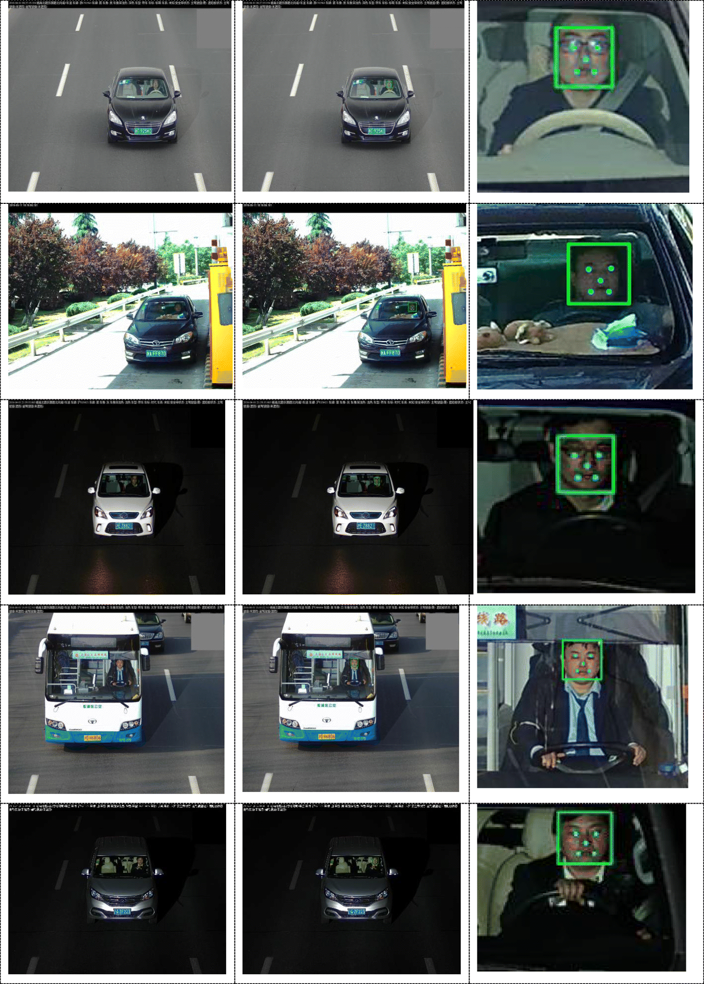 Face detection and alignment method for driver on highroad based on