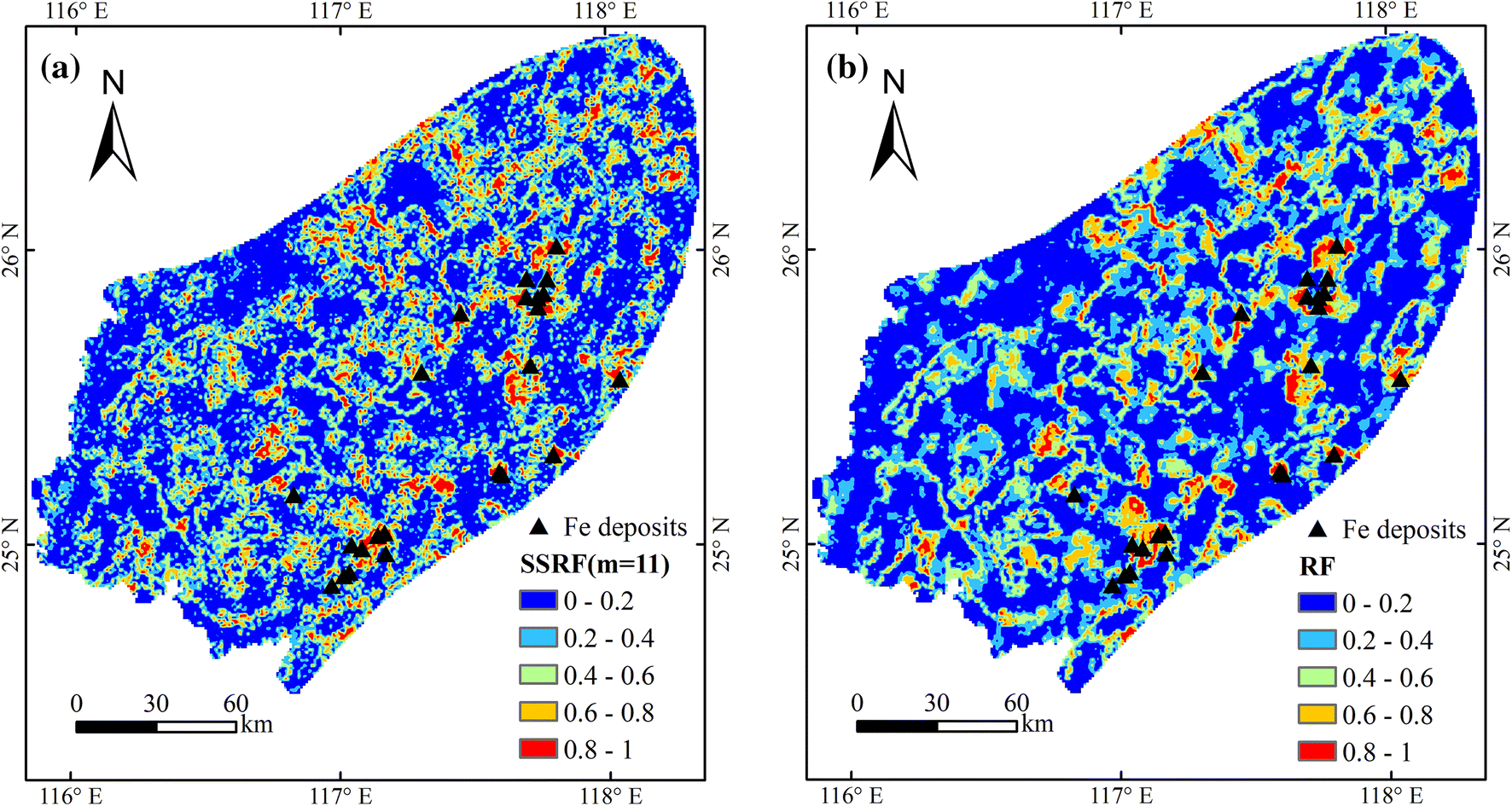 Mapping Mineral Prospectivity via Semi-supervised Random