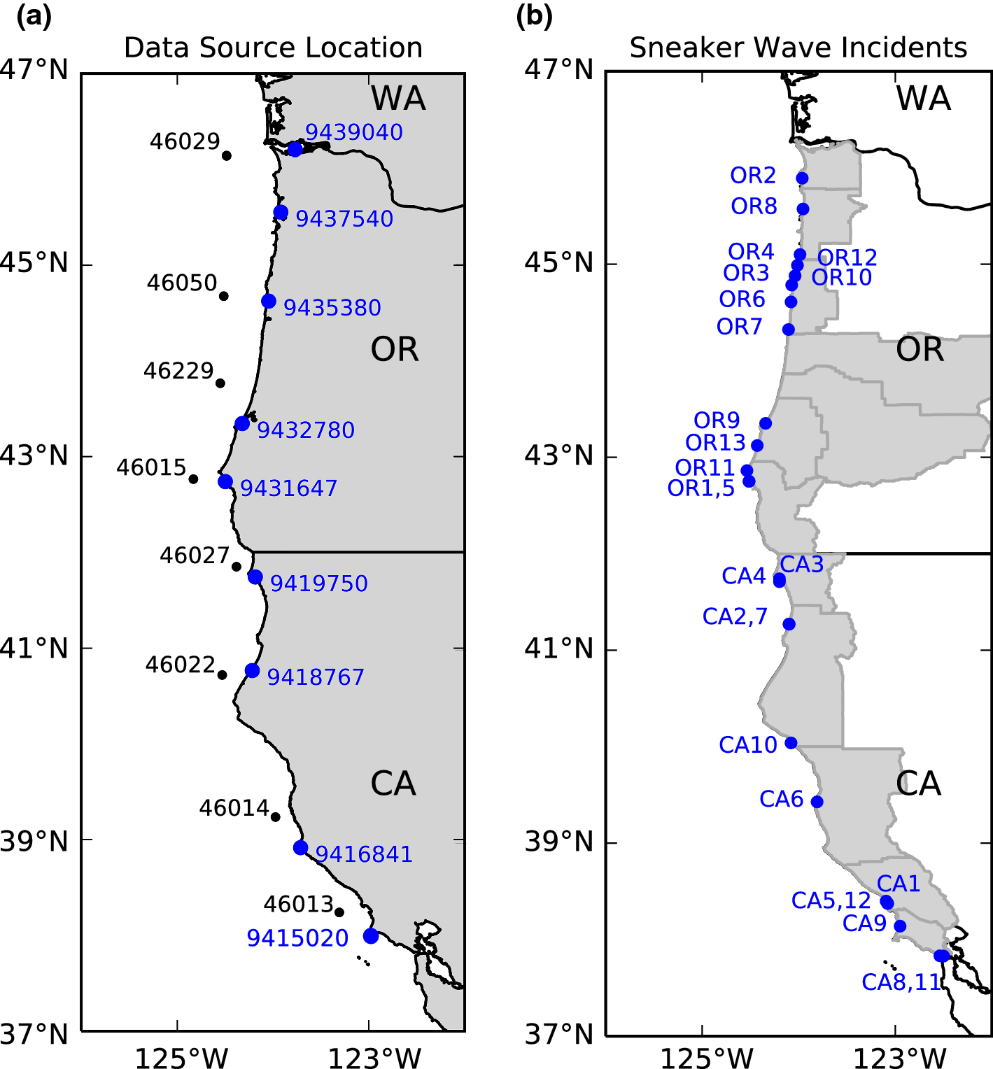 9ce3d986d3f21 Analysis and catalogue of sneaker waves in the US Pacific Northwest ...