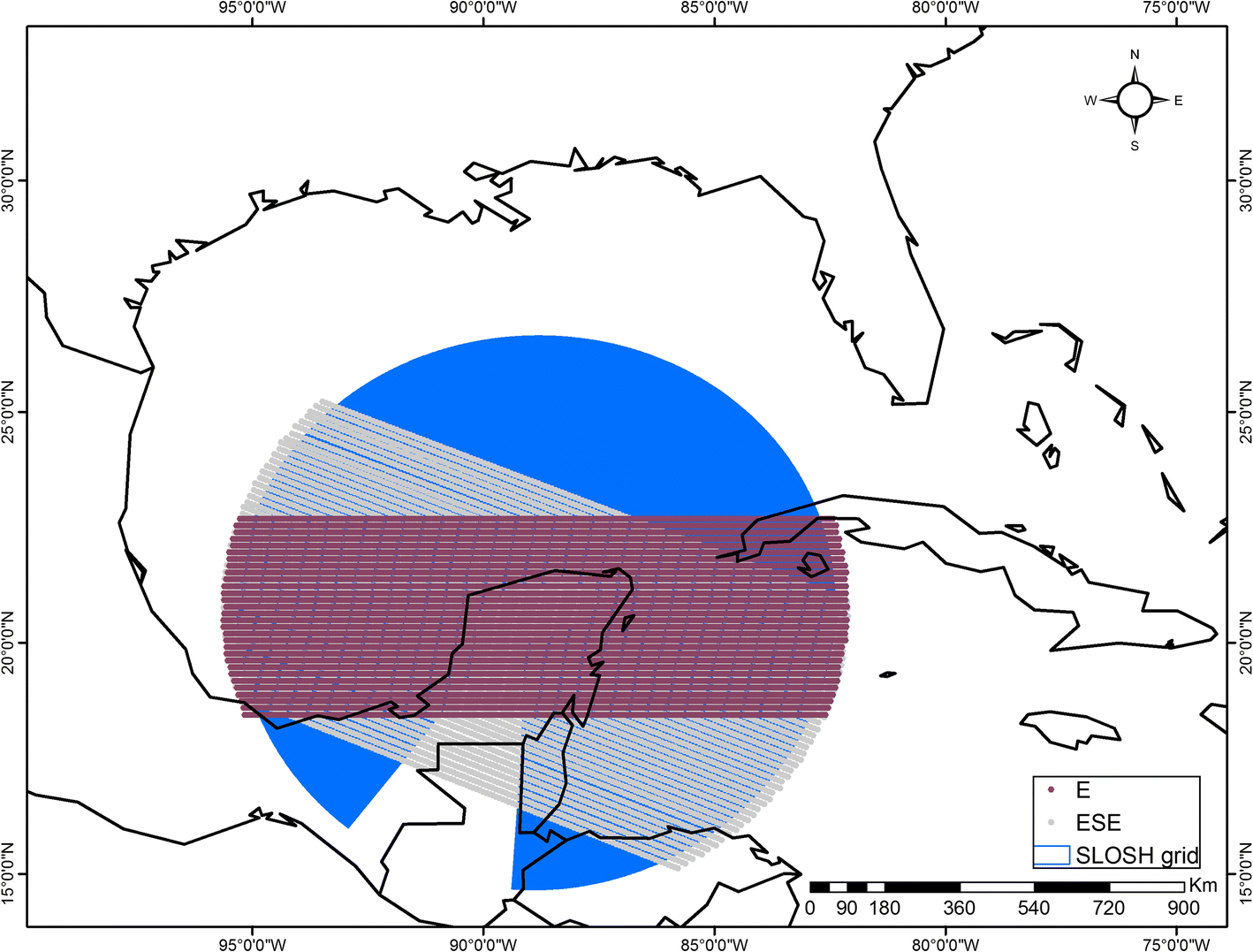 Hurricane flood risk assessment for the Yucatan and Campeche State
