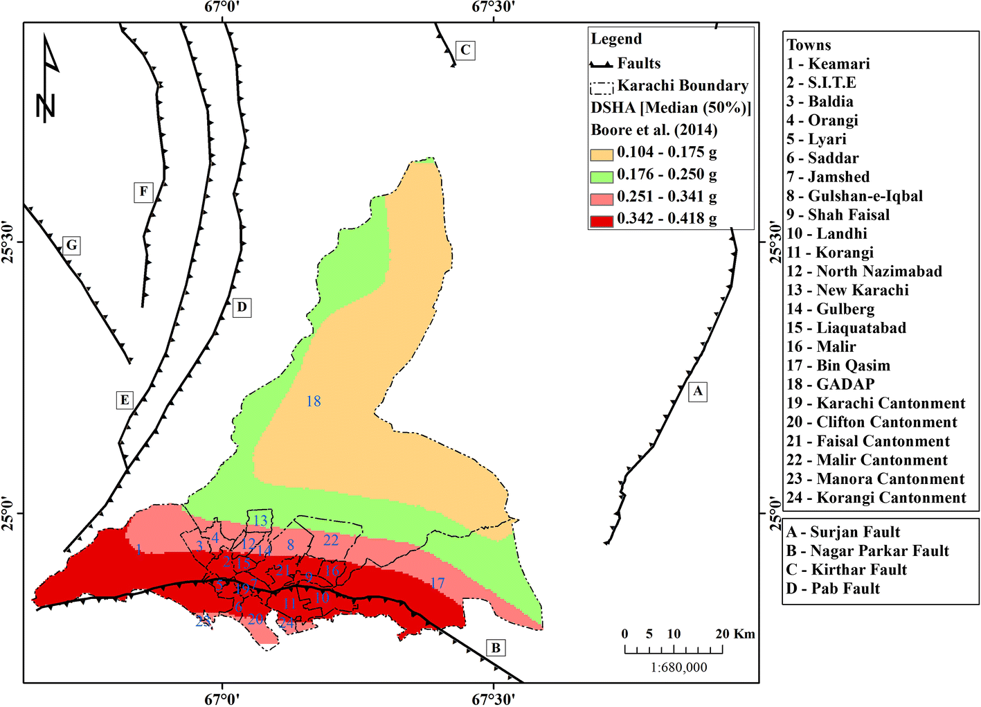 Seismic sources for southern Pakistan and seismic hazard