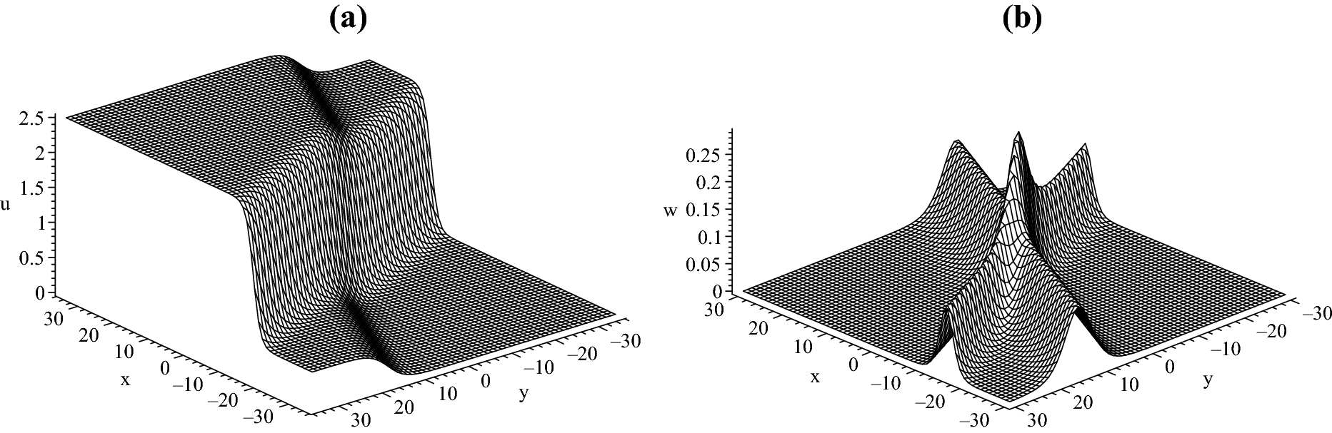 Characteristics and interactions of solitary and lump waves