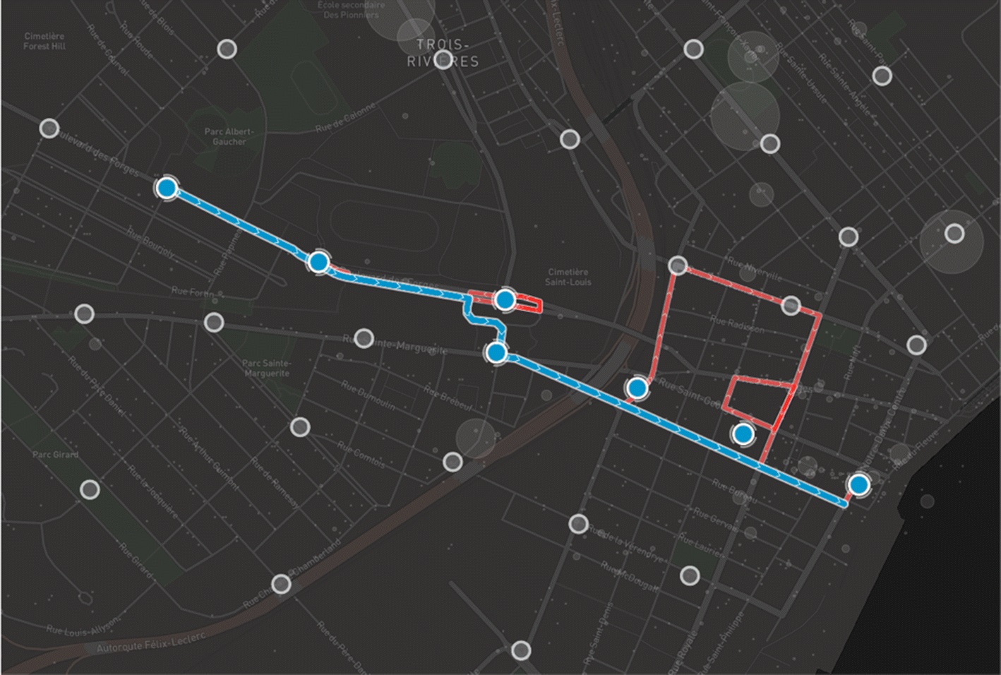 Transit network design using a genetic algorithm with
