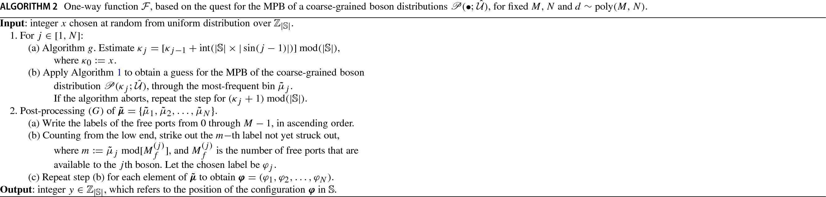 Cryptographic one-way function based on boson sampling | SpringerLink