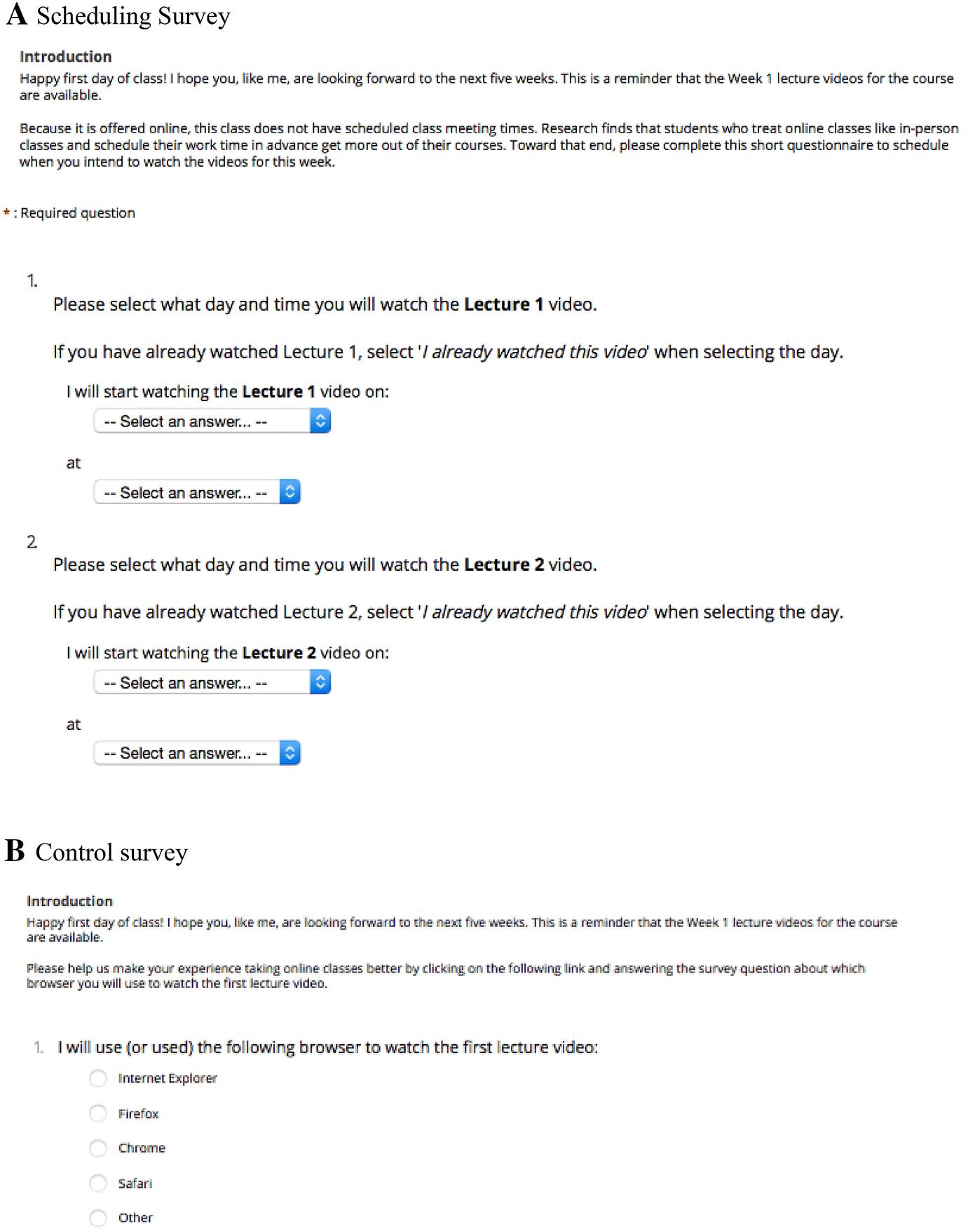 online html classes