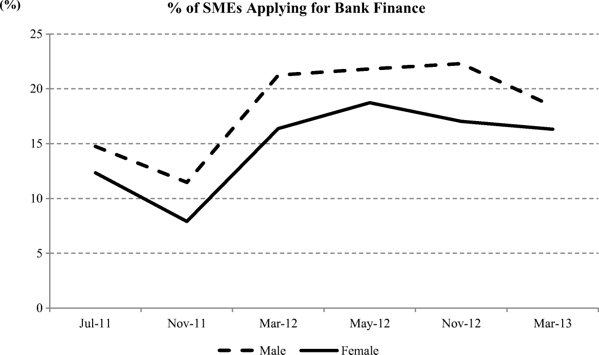 Gender and bank lending after the global financial crisis