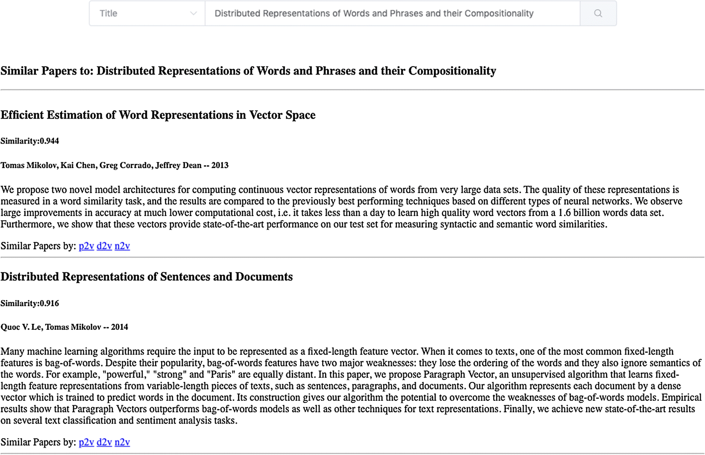 P2V: large-scale academic paper embedding | SpringerLink