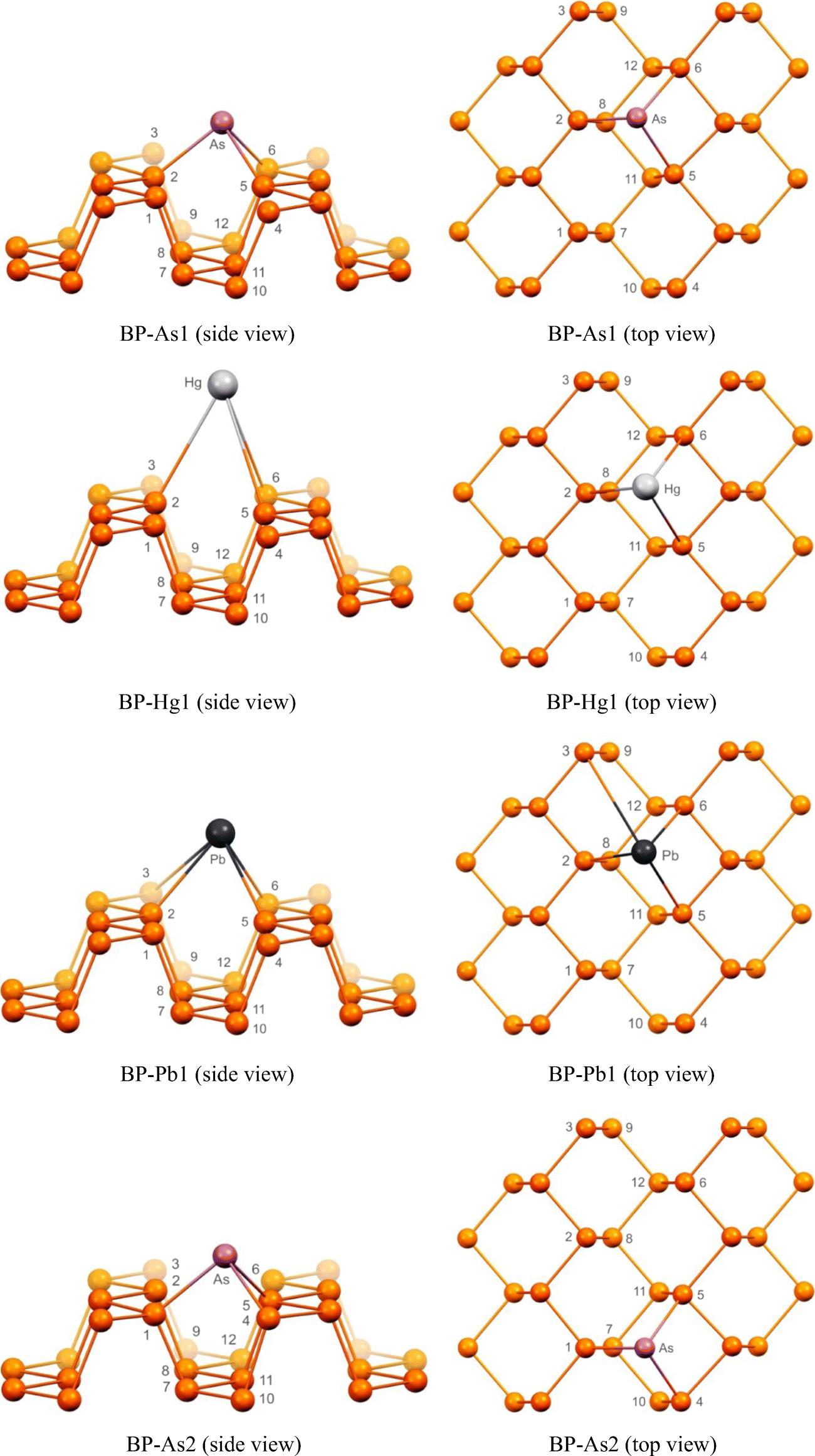 Adsorption of toxic mercury, lead, cadmium, and arsenic ions