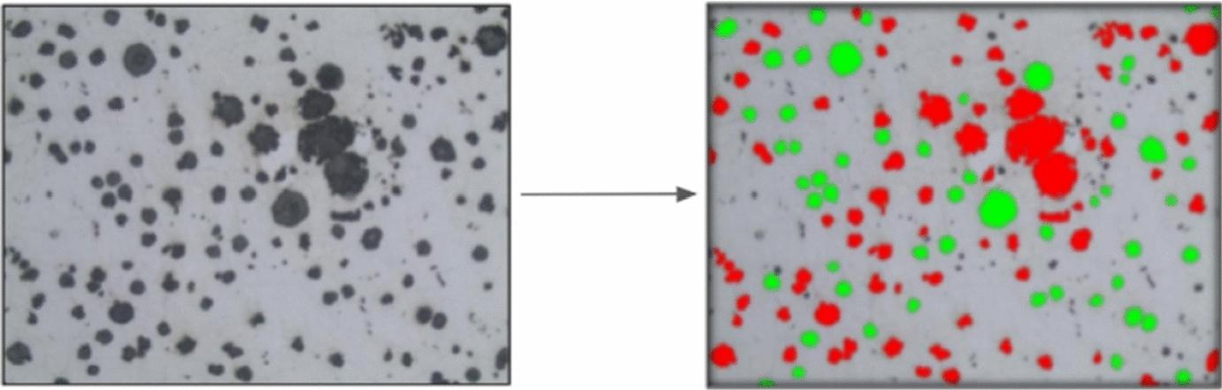 Automatic quantification of spheroidal graphite nodules