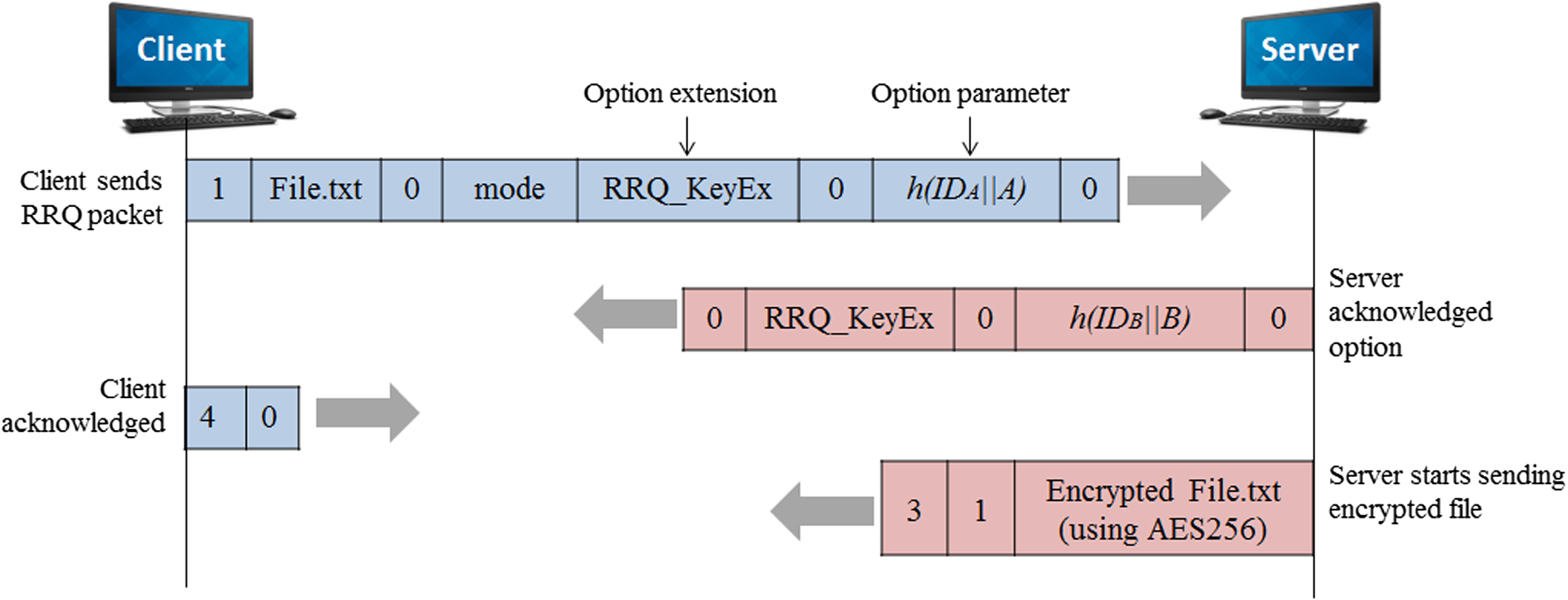 Extending hybrid approach to secure Trivial File Transfer