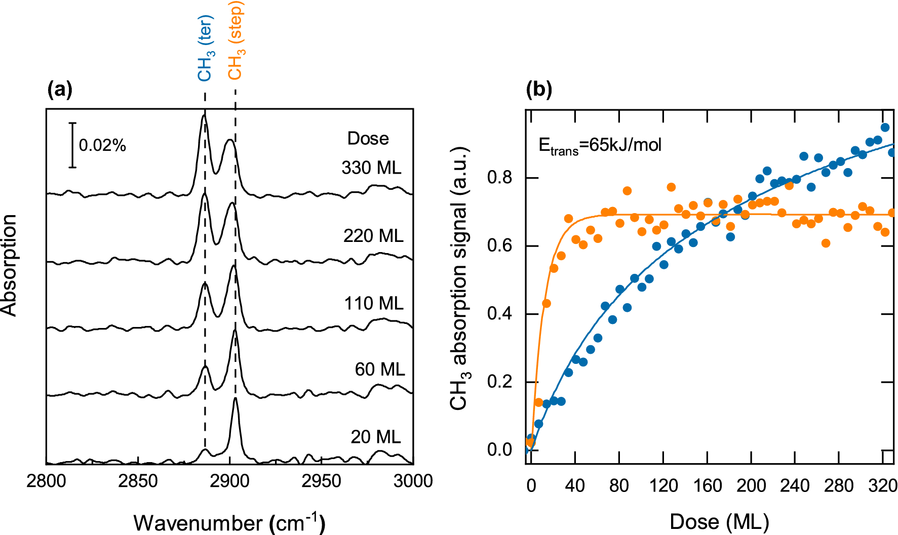 Site Selective Detection of Methane Dissociation on Stepped