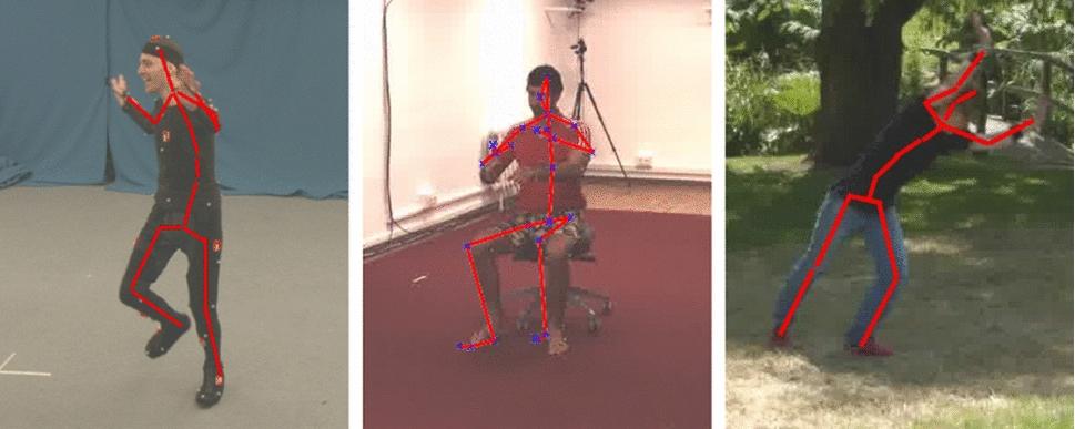 Fusing Visual and Inertial Sensors with Semantics for 3D Human Pose