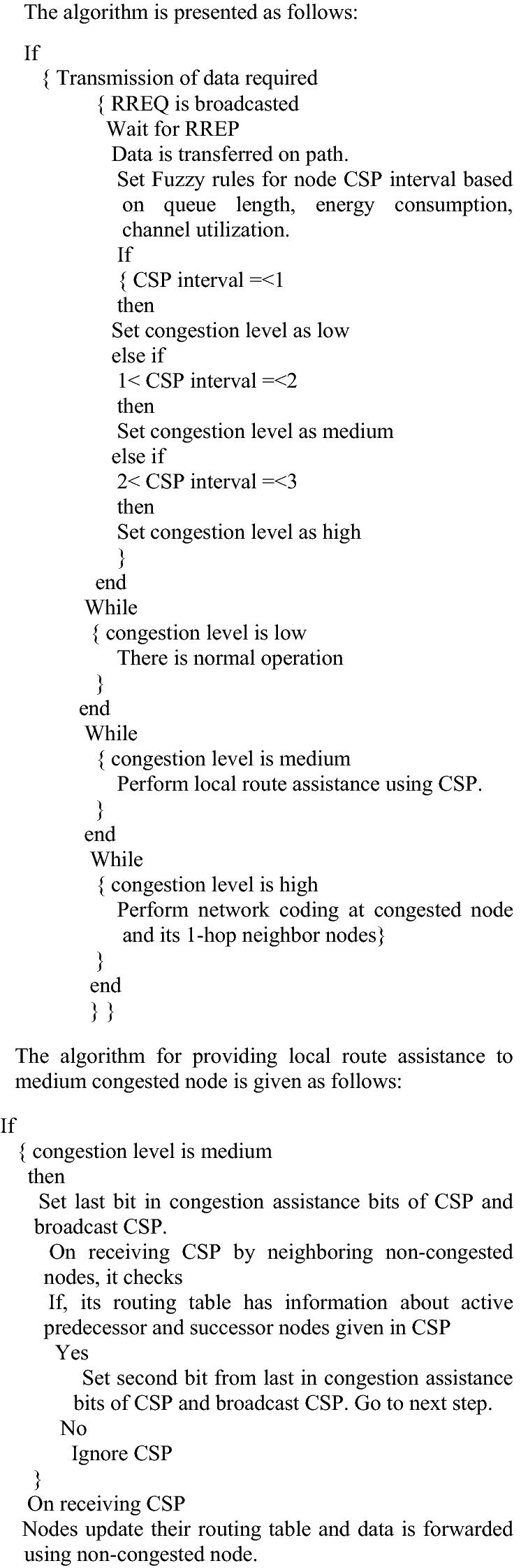 Analysis of Traffic Impact on Proposed Congestion Control Scheme in