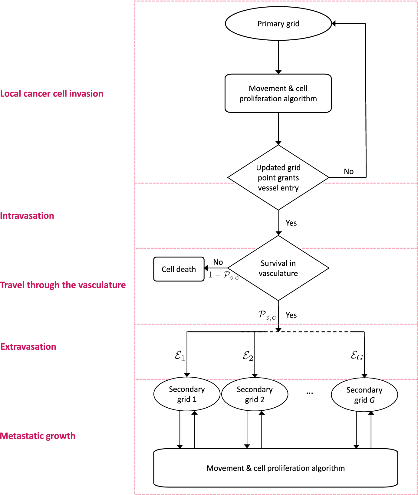 A Mathematical Framework for Modelling the Metastatic Spread of