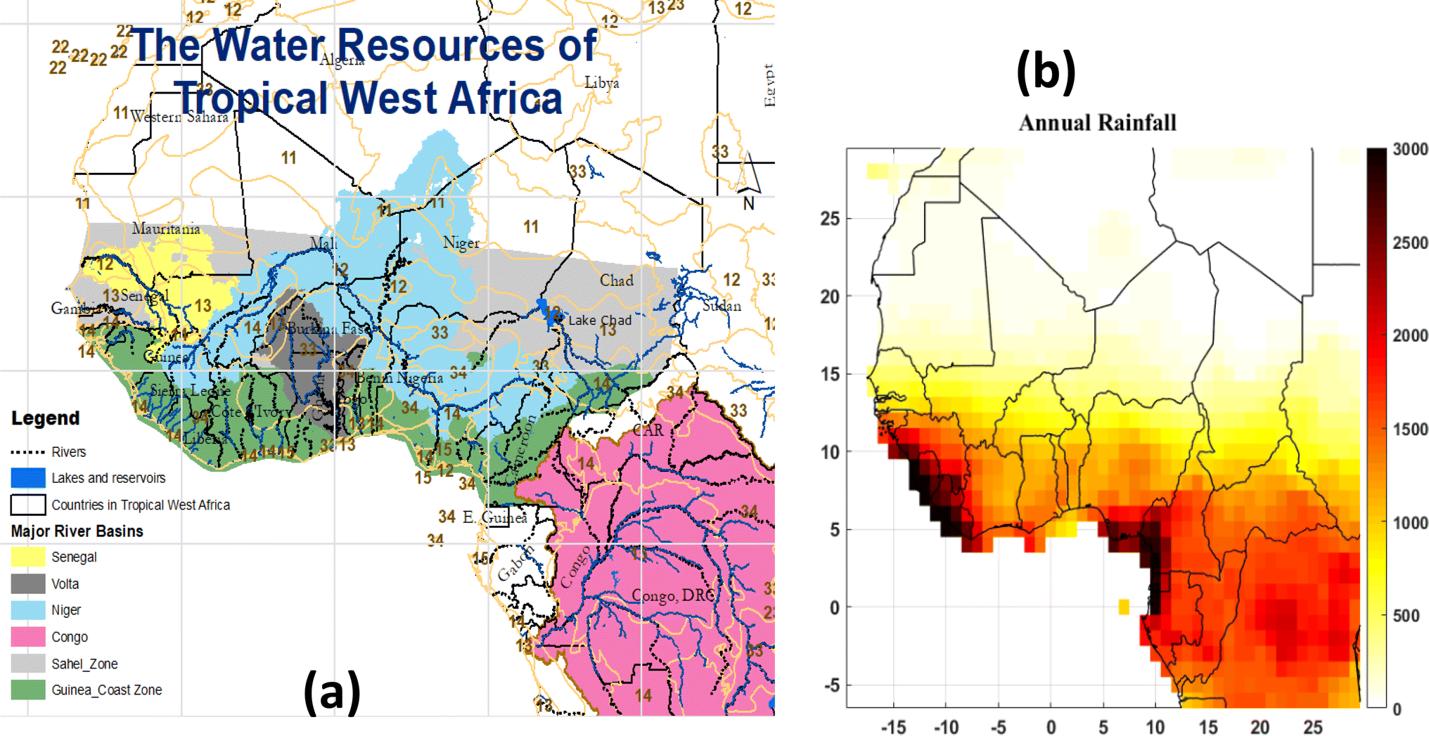 The water resources of tropical West Africa: problems